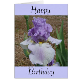 Birthday Card with Iris on it.