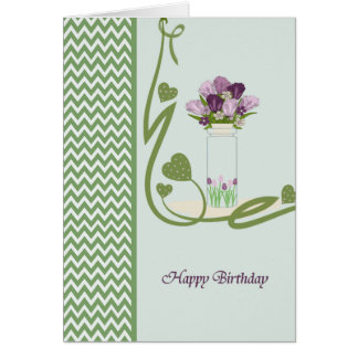 Birthday Card with Jar and Tulips