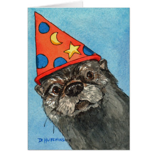 Birthday Card with Otter