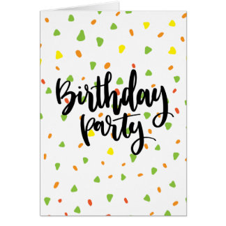 Birthday Card with Triangles