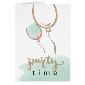 Birthday Card with Water Splash & Balloon