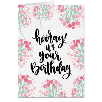 Birthday Card with Watery Florals