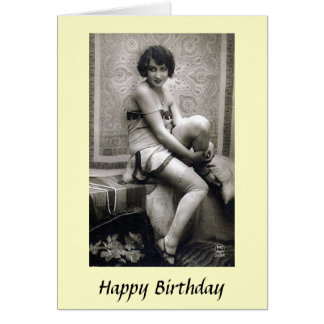 Birthday Card - Young Lady, 1920s