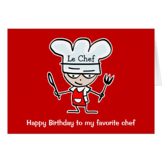 Birthday cards for chefs cooks - Buy here