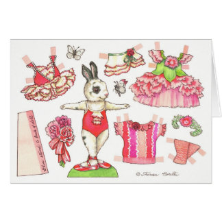 Birthday Carnation Paper Doll Card
