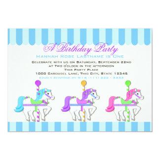Birthday Carousel Ponies Card