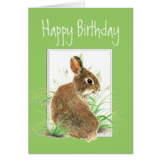 Birthday, Carrot Cake Humor, Rabbit Card