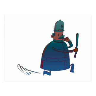 Birthday Cartoon Policeman Greeting Card