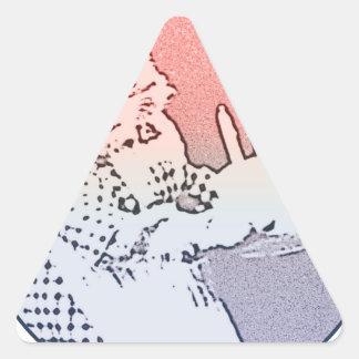 Birthday cat cake triangle sticker