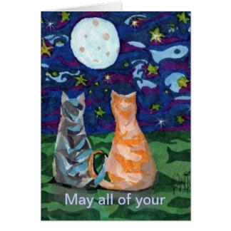BIrthday Cat Dream wishes Greeting Card