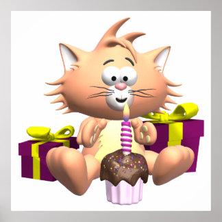 Birthday Cat Poster