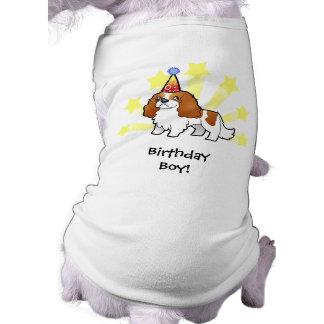 Birthday Cavalier King Charles Spaniel Dog Tshirt