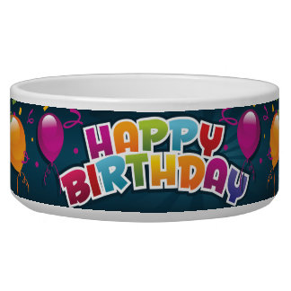 Birthday Celebration Pet Food Bowl!