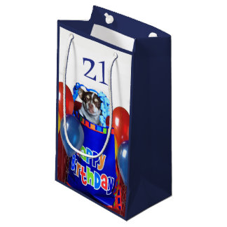 Birthday Chihuahua dog gift bag