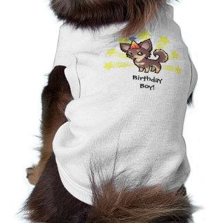 Birthday Chihuahua (long coat) Doggie Shirt