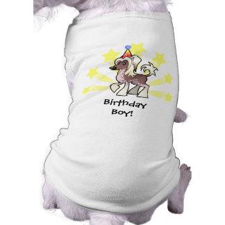 Birthday Chinese Crested (hairless) Dog Tee