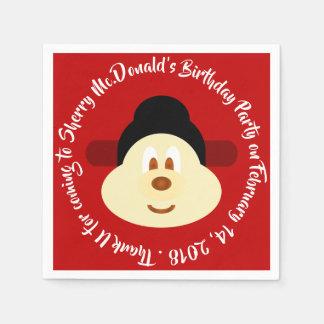 Birthday - Chinese Male Hat 鮑 鮑 Paper Napkin