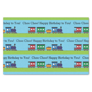 Birthday Choo Choo Train Tissue Paper