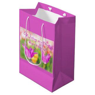 Birthday>Christian>Tulips> Bright & Beautiful Medium Gift Bag