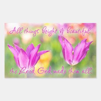 Birthday>Christian>Tulips> Bright & Beautiful Sticker