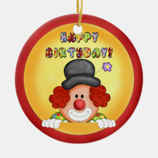 Birthday Clown Ornament