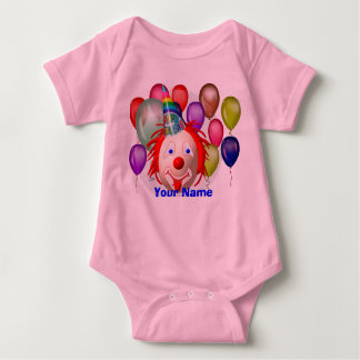 Birthday clown, Your Name Baby Bodysuit