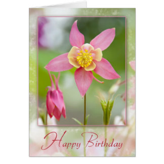 Birthday Columbine Card