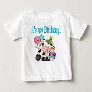 Birthday Cow Baby T-Shirt