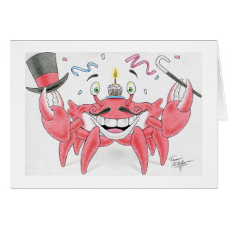 Birthday Crab Card