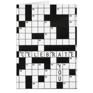 Birthday crossword puzzle card