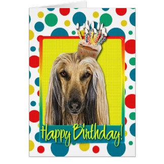 Birthday Cupcake - Afghan Card