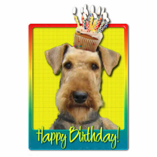 Birthday Cupcake - Airedale Photo Sculptures