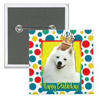 Birthday Cupcake - American Eskimo 2 Inch Square Button