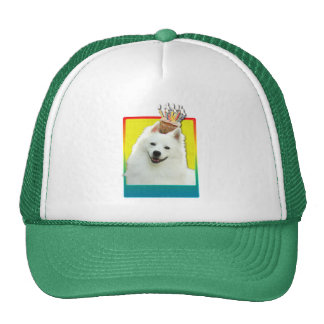 Birthday Cupcake - American Eskimo Mesh Hats