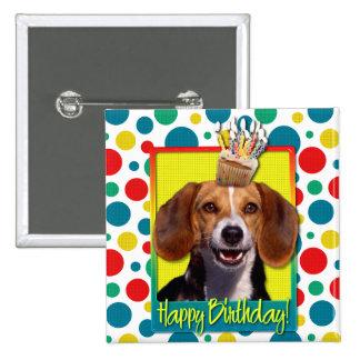 Birthday Cupcake - Beagle Pinback Button