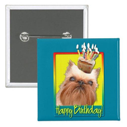 Birthday Cupcake - Brussels Griffon Pins