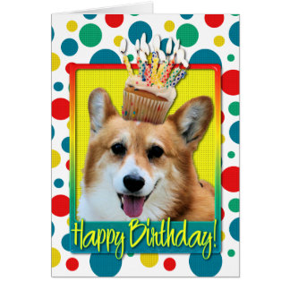 Birthday Cupcake - Corgi - Owen Card