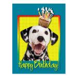 Birthday Cupcake - Dalmatian Postcard