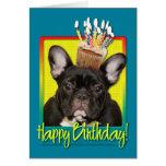 Birthday Cupcake - French Bulldog - Teal