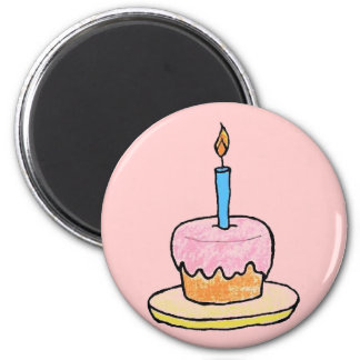 """Birthday Cupcake"" Fridge Magnet"