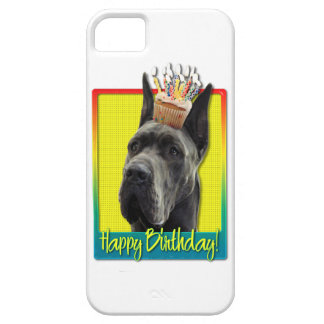 Birthday Cupcake - Great Dane - Grey Case For The iPhone 5