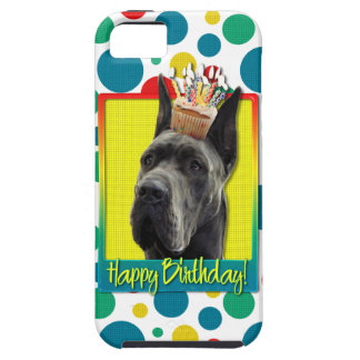 Birthday Cupcake - Great Dane - Grey iPhone 5 Cases