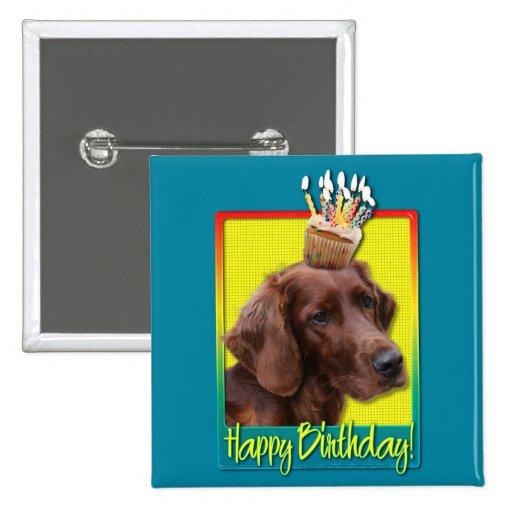 Birthday Cupcake - Irish Setter Pins