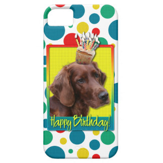 Birthday Cupcake - Irish Setter Case For The iPhone 5