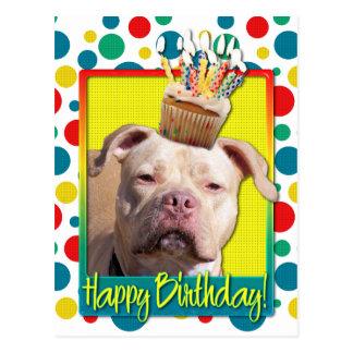 Birthday Cupcake - Pitbull - Jersey Girl Postcard