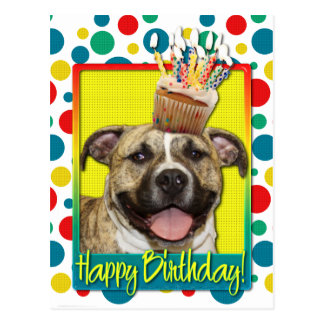 Birthday Cupcake - Pitbull - Tigger Postcard