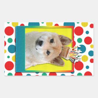 Birthday Cupcake - Shiba Inu Sticker