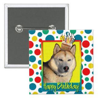 Birthday Cupcake - Siberian Husky - Copper Pins