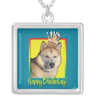 Birthday Cupcake - Siberian Husky - Copper Pendants