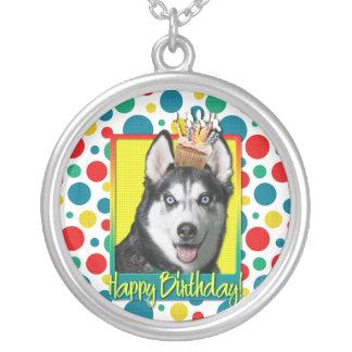 Birthday Cupcake - Siberian Husky Custom Jewelry